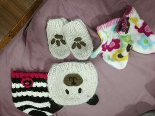 Girls winter cap and gloves