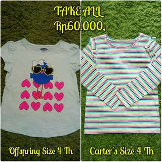 Kaos Atasan Anak Size 4 Th - TAKE ALL