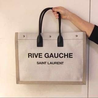 SAINT LAURENT RIVE GAUCHE TOTE BAG CANVAS Dior Chanel Balenciaga chloe Celine fendi gucci Givenchy