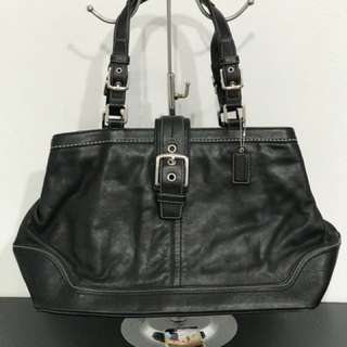 Coach leather tote bag for women