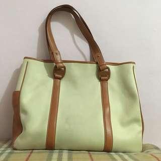 Ferragamo 帆布加皮tote bag not Fendi Gucci Prada Longchamp Loewe Celine Chloé