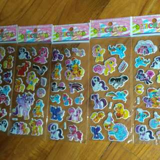 assorted 3D Poney stickers