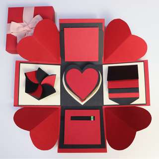 Classic Red and Black Explosion Gift Box