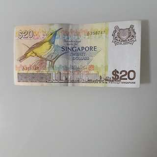 Bird Series $20 note
