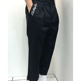 BAPE 2TUCK STRETCH TAPERED PANTS