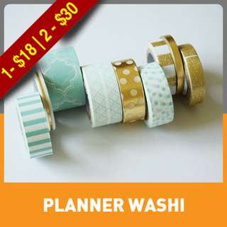 Mint Washi Tube