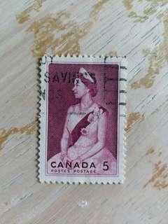 加拿大郵票 英女皇像已銷郵票A01