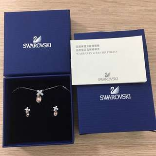 Swarovski 水晶頸鏈 耳環 套裝