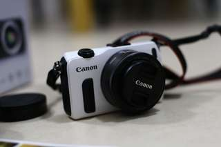 Canon EOS M with 22mm lens and Adaptor for Canon (DSLR) EF Lenses