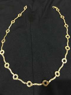 916 gold chain short necklace