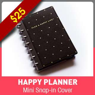 Mini Happy Planner™ Snap-In Hard Cover, Gold Dots