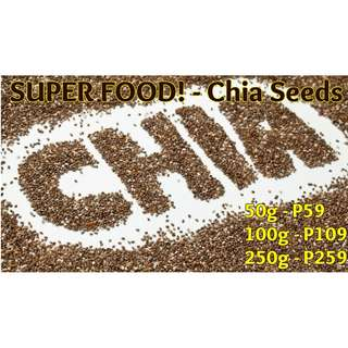 SUPERFOOD - Chia Seeds 50g 100g 250g