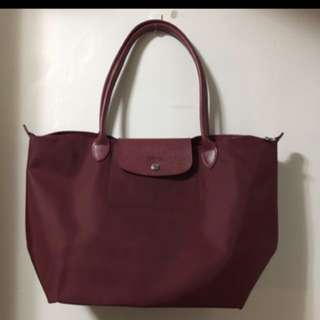 Longchamp red wine NEO 長炳厚料