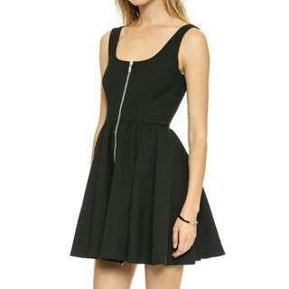 Korean Chic Classic Black Skater Dress