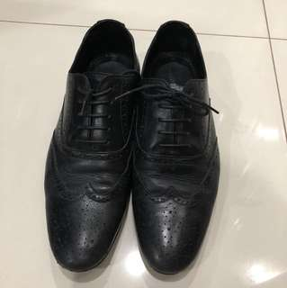 Men's Leather Oxford Shoes w/ Rubber Sole