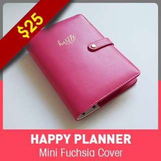 [INSTOCK] Happy Planner Mini Cover - Fuchsia