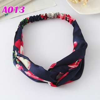 Red mix Blue Floral Headband