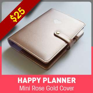 [INSTOCK] Happy Planner Mini Cover - Rose Gold