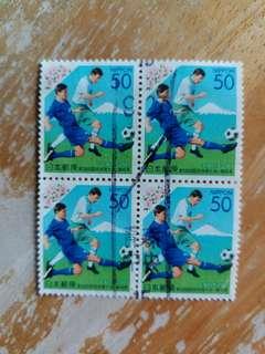 日本郵票 2003年笫58屆國民体育会四方連已銷郵票