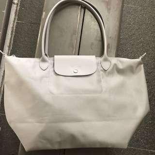 Longchamp NEO 長柄灰色厚料
