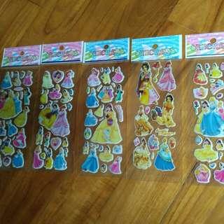 Stickers 3D princes