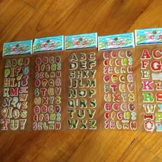 Stickers 3D Letters