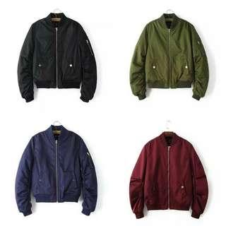 ✨INSTOCKS✨ Premium Zip MA-1 Bomber Jacket (Womens)