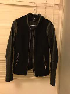H&M 皮褸 Leather Jacket