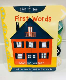 Learning Book First Words (Slide)