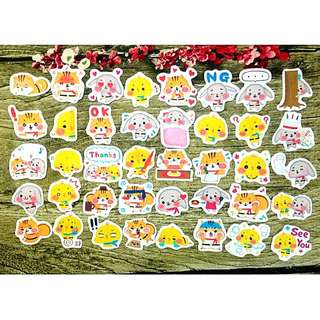 [Instock] Stickers Scrapebook/ Planner Stickers #68 (Squirrel, Chick and bunny/ rabbit)