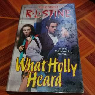 What Holly Heard by RL Stine