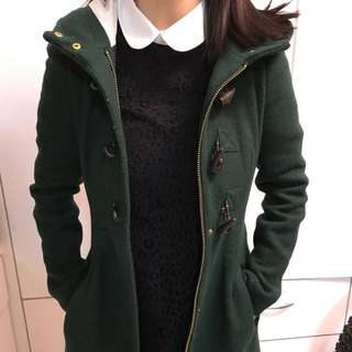 ZARA TRF 深綠色漁夫長褸 ✳️ ZARA TRF Dark green Duffle coat