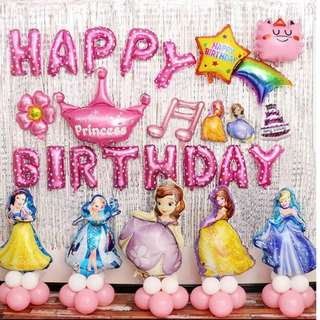 INSTOCK Happy Birthday Balloons/part decoration/kids birthday / cartoon