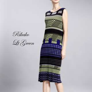 Premium. Rikako Pleat Dress. Free Size.