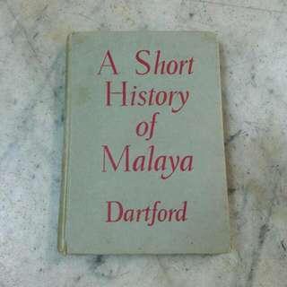 A Short History Of Malaya Vintage