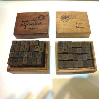 英文字母/數字符號 印章 (全新) Handwriting alphabet/ Number stamps (100% new)