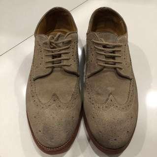 Men's Suede Oxford Shoes