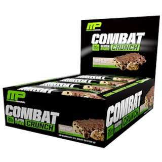 MusclePharm, Combat Crunch, Chocolate Chip Cookie Dough, 12 Bars, 63 g Each