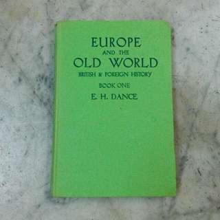 Europe And The Old World British & Foreign History Book One Vintage