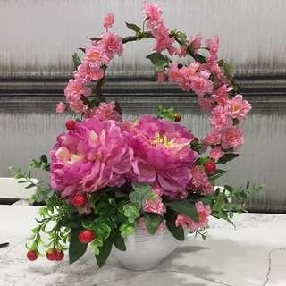 BRAND NEW Oriental Artificial Flower Arrangement
