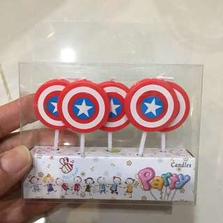 $4.90 captain America Happy Birthday Candles