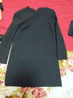 Zara black high neck dress - low back