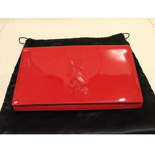YSL Authentic clutch Red color RM1600