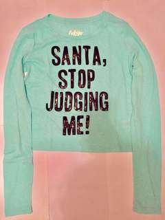 Aeropostale Santa Stop Judging Me Tee
