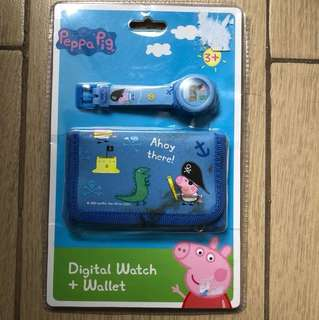 Peppa Pig Digital Watch and Wallet