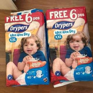 Drypers Diapers XXL