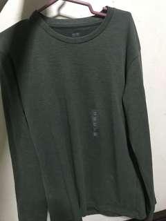 Uniqlo Green Long Sleeves Sweatshirt