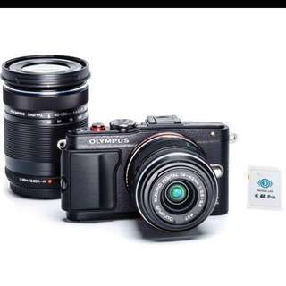 Rarely used Olympus EPL6 comes with two lens
