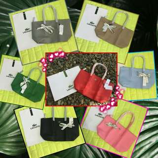 L A C O S T E 👜    ✔Plus SF  ✔With paper bag  ✔💯Quality bags