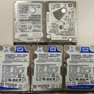"5隻 320GB 2.5"" Notebook Hard Disk"